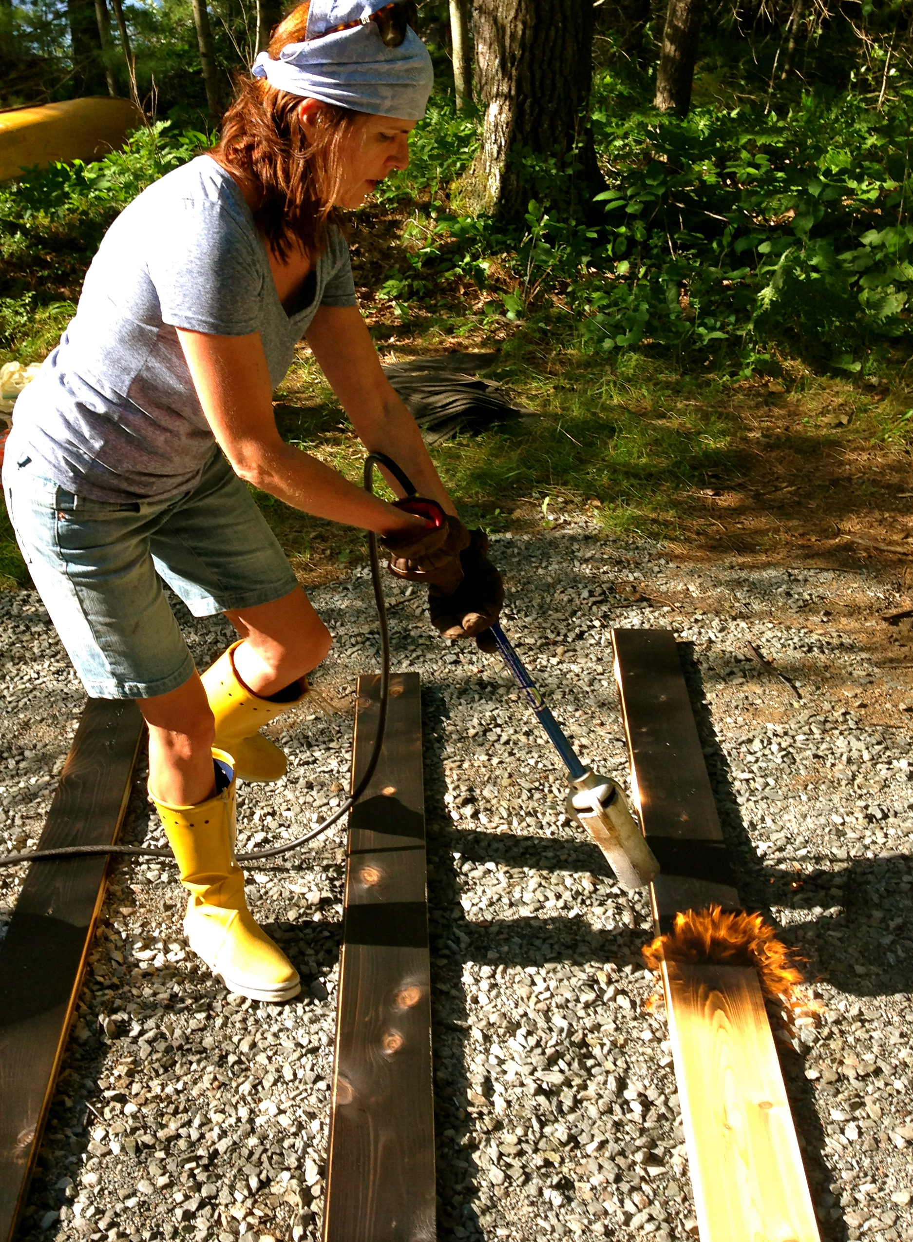 At Our Canadian Cottage Charring Cedar Chasing Home
